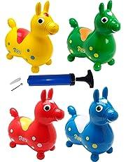 Rody Hüpfpferd + inkl. Pumpe, Sprungpferd Cavallo Ledraplastic Gymnic (blau)