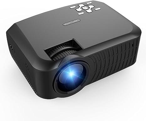 Proyector,DBPOWER T22 Mini Proyector LCD de 2400 Lumens ...