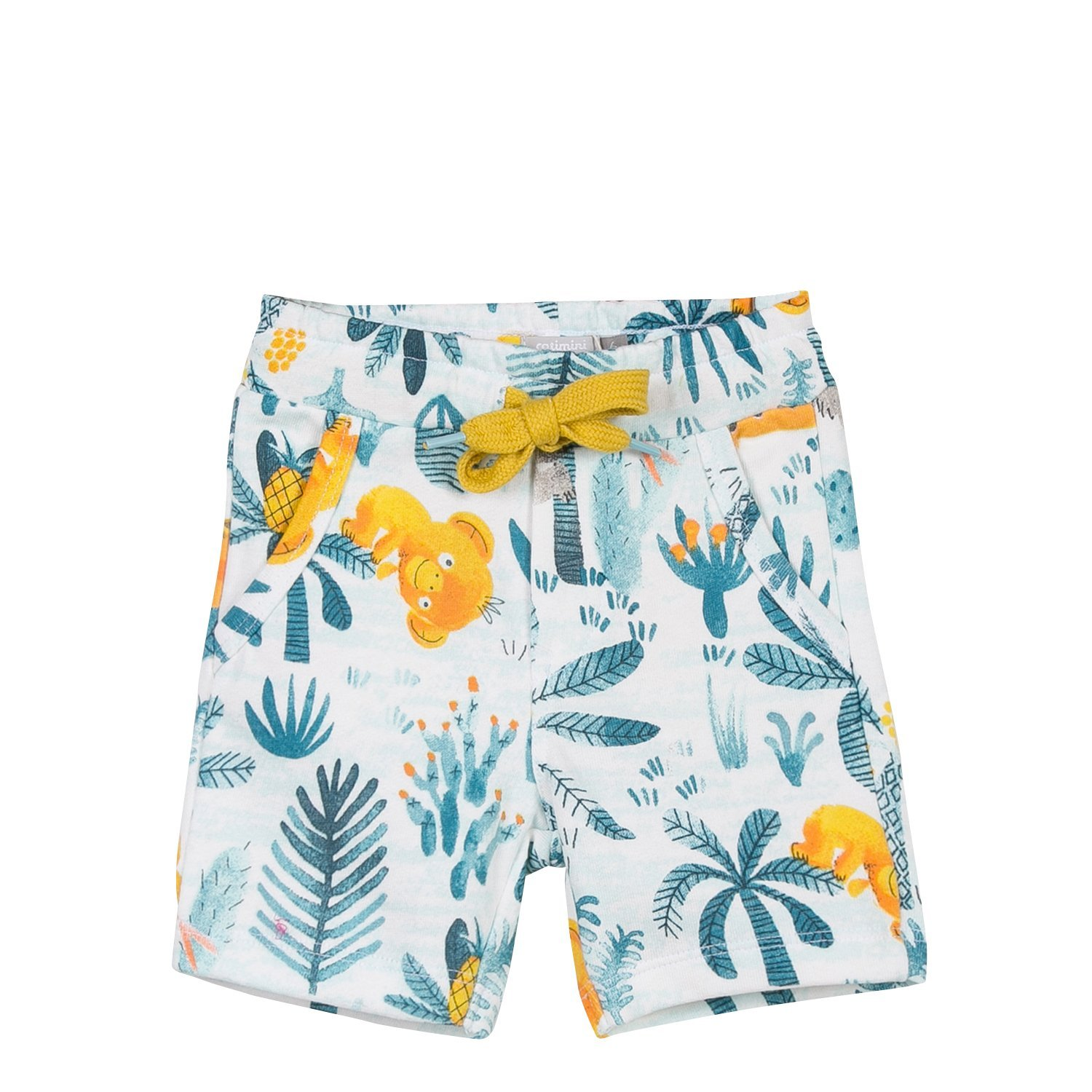 Catimini Printed Fleece Bermuda Shorts