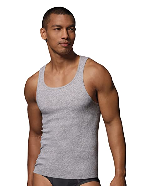e42887344ad704 Image Unavailable. Image not available for. Color  Hanes Tagless Men`s  Ribbed A-Shirt