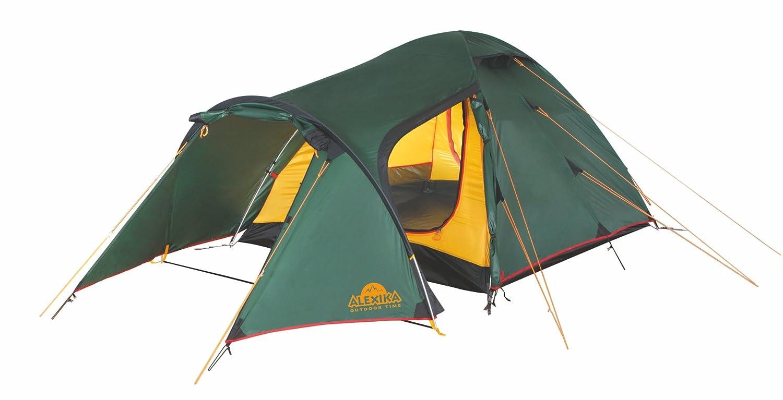 ALEXIKA 220x420x125 Zelt Zamok 4, grün (außen) gelb (innen), 220x420x125 ALEXIKA (BxLxH), 9126.4101 b5167f