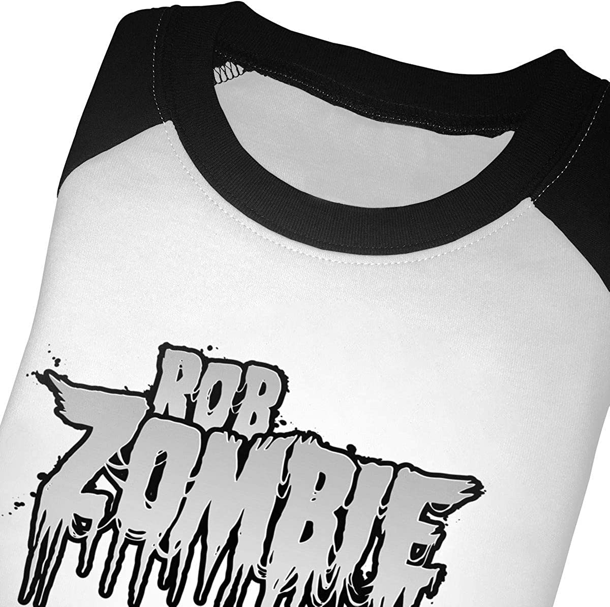 KENMENE Rob Zombie Kids 3//4 Sleeve Raglan Baseball T-Shirt for Girls /& Boys Black