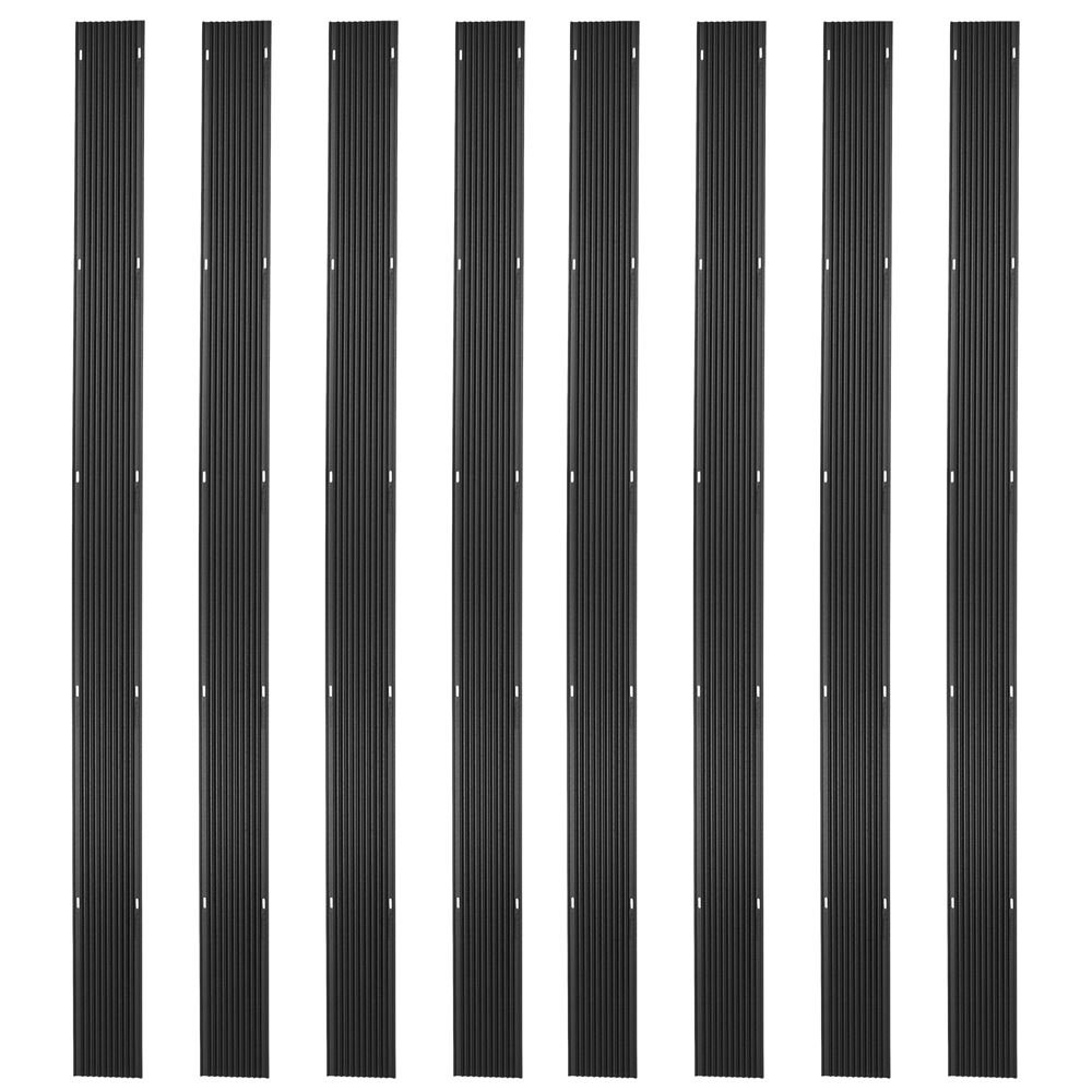 Ice Black 64ft. Snowmobile Ski Carbide Glide Protector Guides - (8) 8ft. Sections by Ice Black