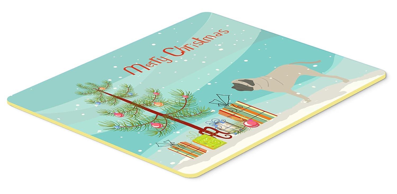 Caroline 's Treasures English Mastiff Merryクリスマスツリーキッチンやバスマット24 x 36 bb2974jcmt、24hx36 W、マルチカラー   B01LZPO01R