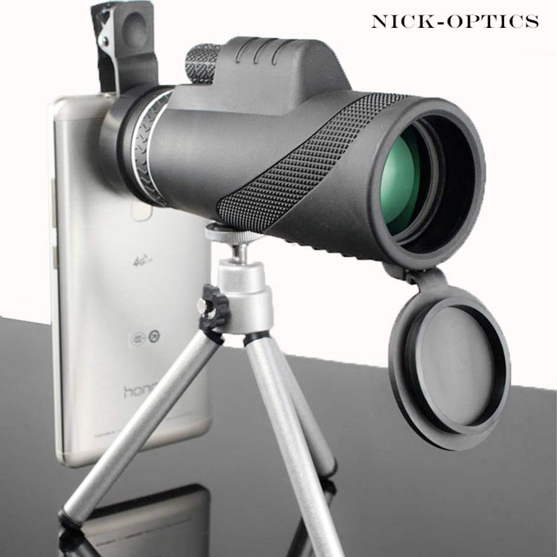 Monocular 40x60 Powerful Binoculars Great Handheld Telescope LLL Night Vision Military Professional Hunting by Afra Coffey Bb