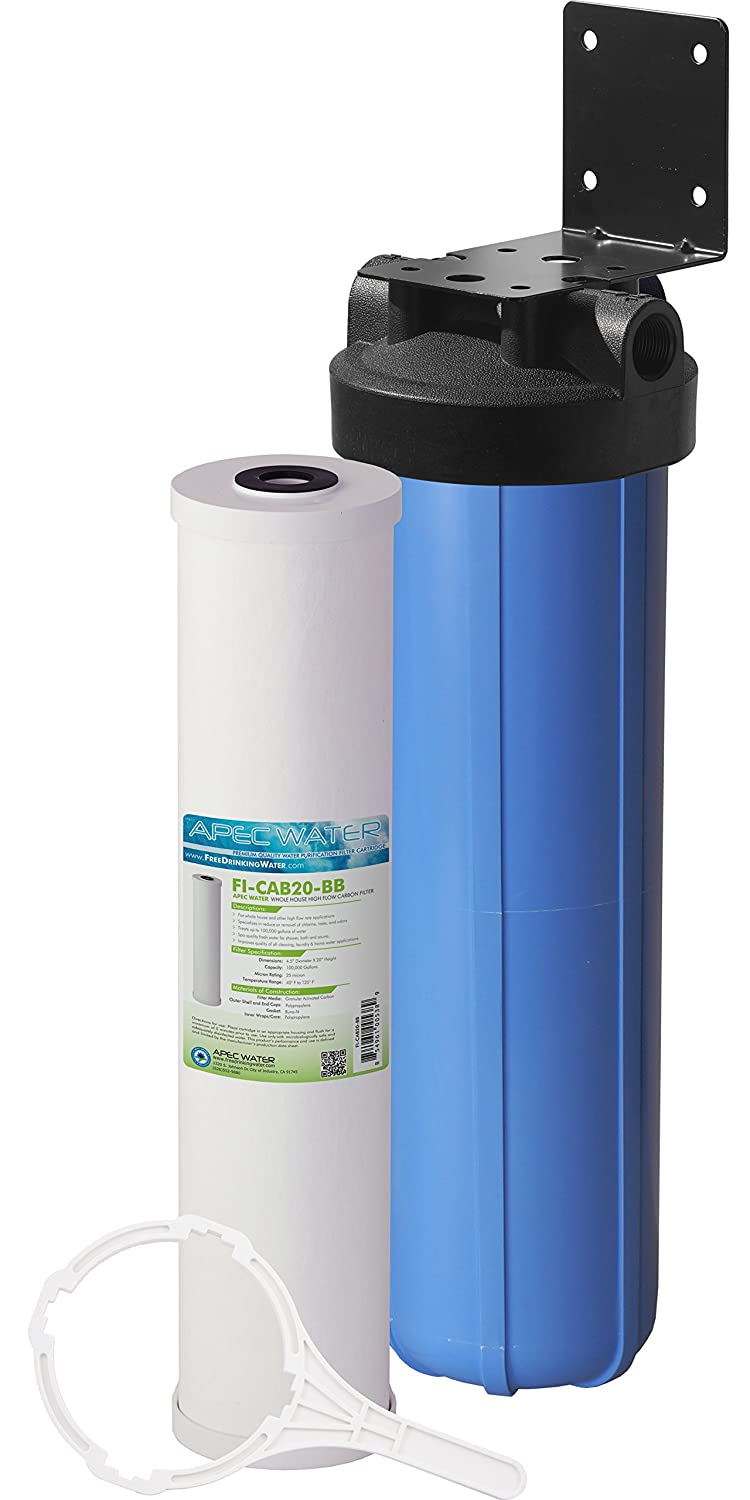 "APEC Water Systems CB1-CAB20-BB APEC Whole House Carbon Water Filter with 20"" Big Blue Home Filtration System"