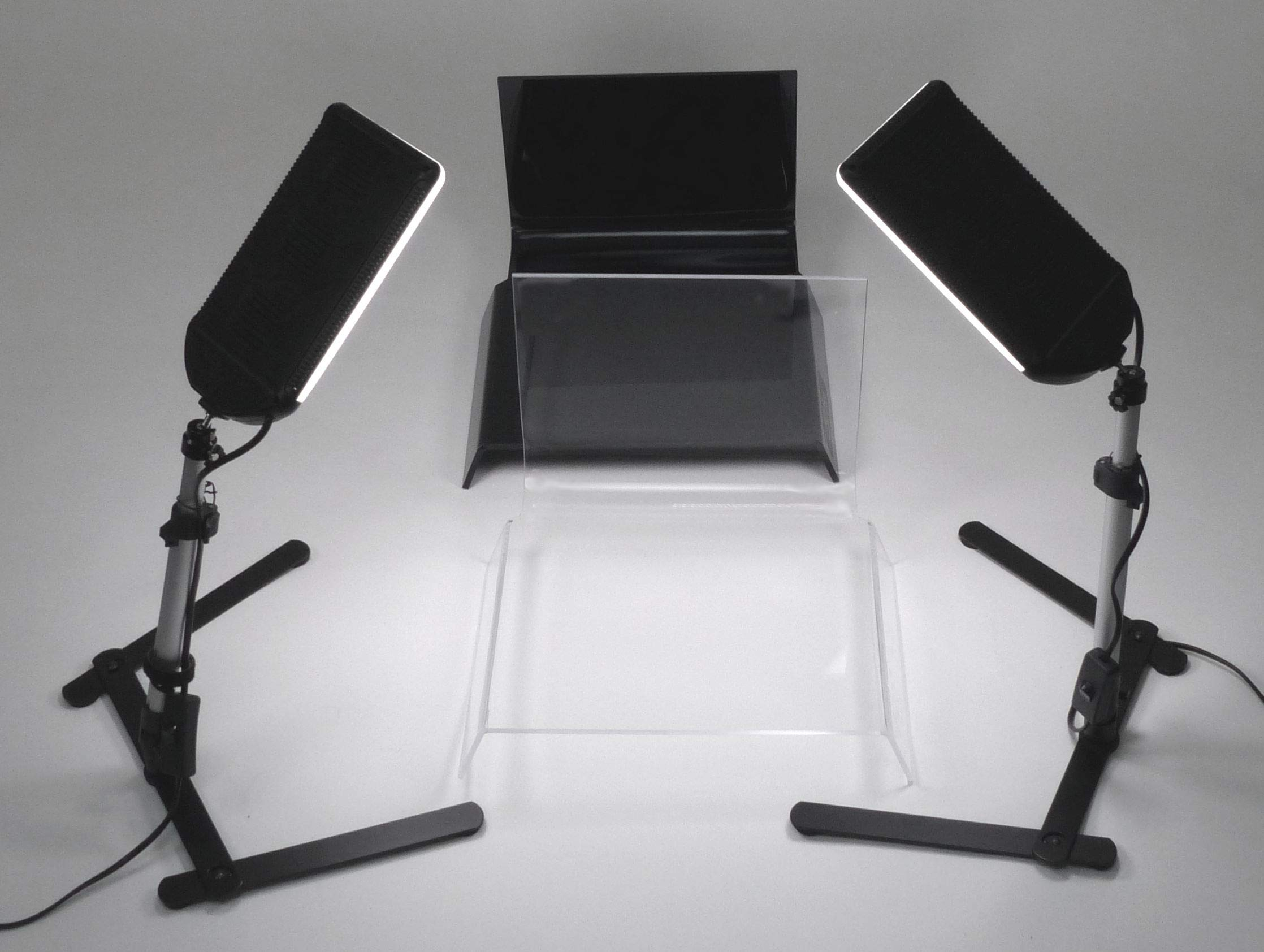 ALZO 100 LED Table Top Platform Light Kit - Black & Clear Shooting Tables for Jewelry Photography by ALZO digital