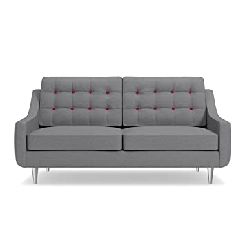 Astonishing Amazon Com Cloverdale Apartment Size Sofa Mountain Grey Inzonedesignstudio Interior Chair Design Inzonedesignstudiocom