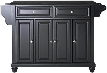 amazon com crosley furniture cambridge kitchen island with solid