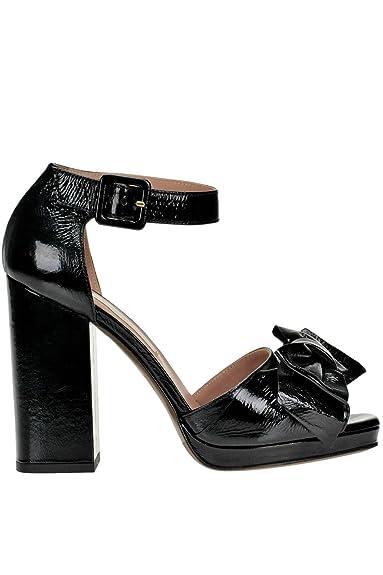 L Autre Chose Femme MCGLCAT04025I Noir Cuir Vernis Sandales  Amazon ... a2146381a6f9