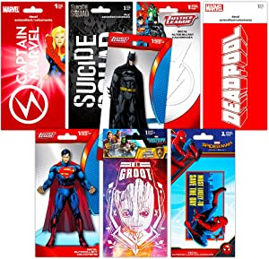Superhero Decals Ultimate Set -- 8 Premium Decal Stickers for Laptop, Car, Macbook (Guardians of the Galaxy, Spiderman, Superman, Batman, and More)