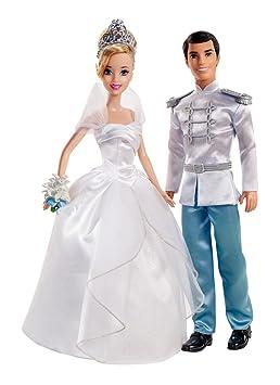 Mattel X2846 Mariage Couple De Mariés Cendrillon Et Son Prince Charmant Disney Princess