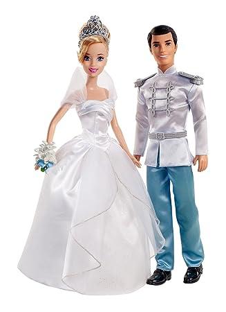 Amazon.es: Disney Mattel X2846 Princesas Pareja de novios (Cenicienta y el Príncipe): Juguetes y juegos