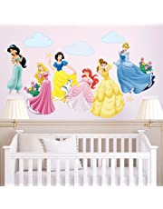 decalmile Princess Wall Stickers Murals Removable Vinyl Fairy Wall Decals for Girls Room Nursery Baby Bedroom
