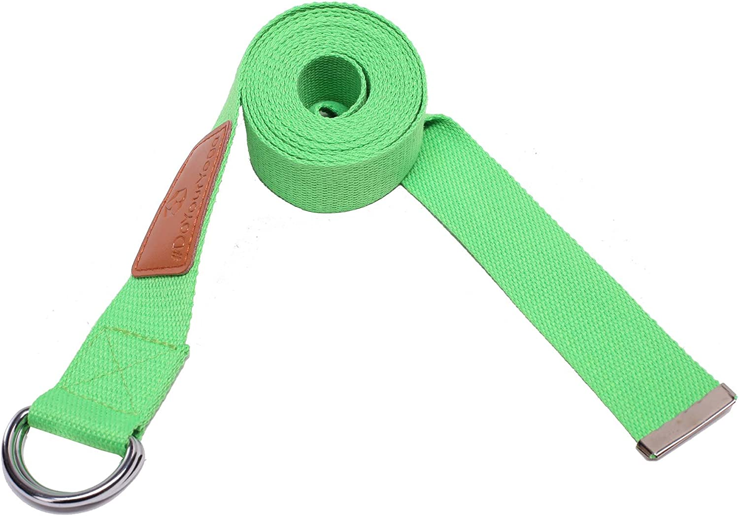260 x 3.8 cm #DoYourYoga yoga belt of with sturdy metal ring fastener perfect for pilates stretching holding poses improving flexibility /& physical therapy//green black blue pink grey violet red