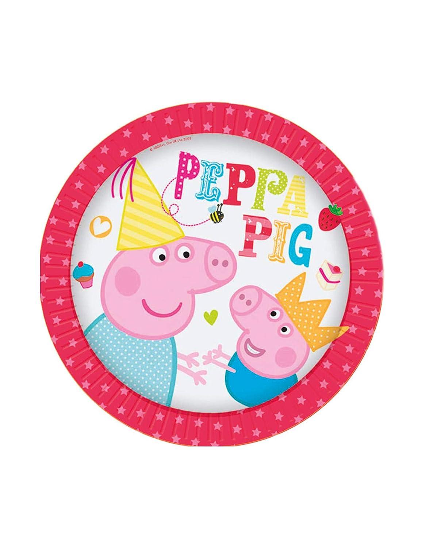 20 cm in carta conf 8 pz. Accessori festa compleanno peppa pig piatti diam