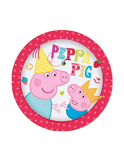 Amazon.com: 8 Peppa Pig Party platos de postre 7