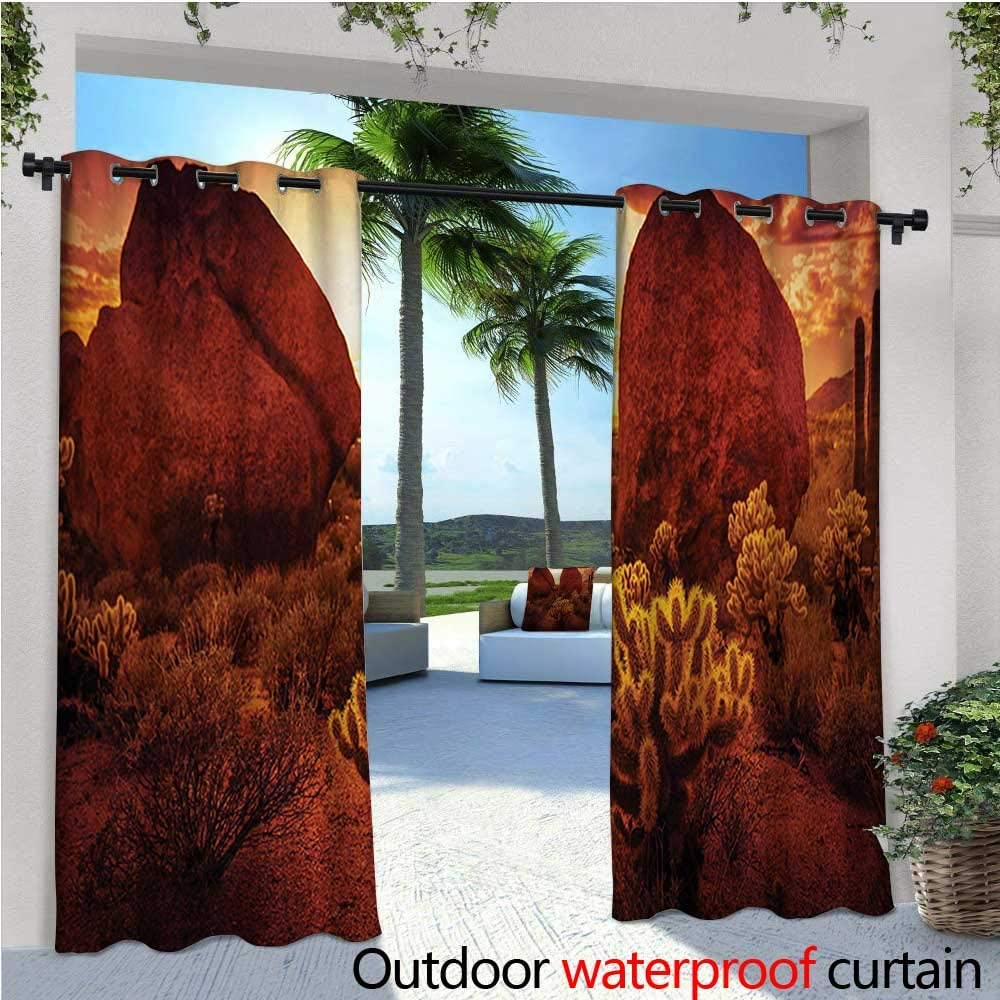 Safari Outdoor- Cortina de privacidad de pie para exteriores con diseño de familia de tigre en la selva, luz de luna, abstracto de césped nocturno para porche delantero cubierto, patio, cenador, playa,