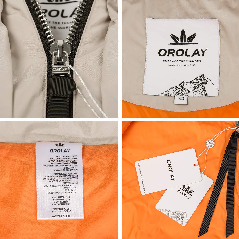 Amazon.com: Orolay - Chaqueta de plumón gruesa para mujer ...
