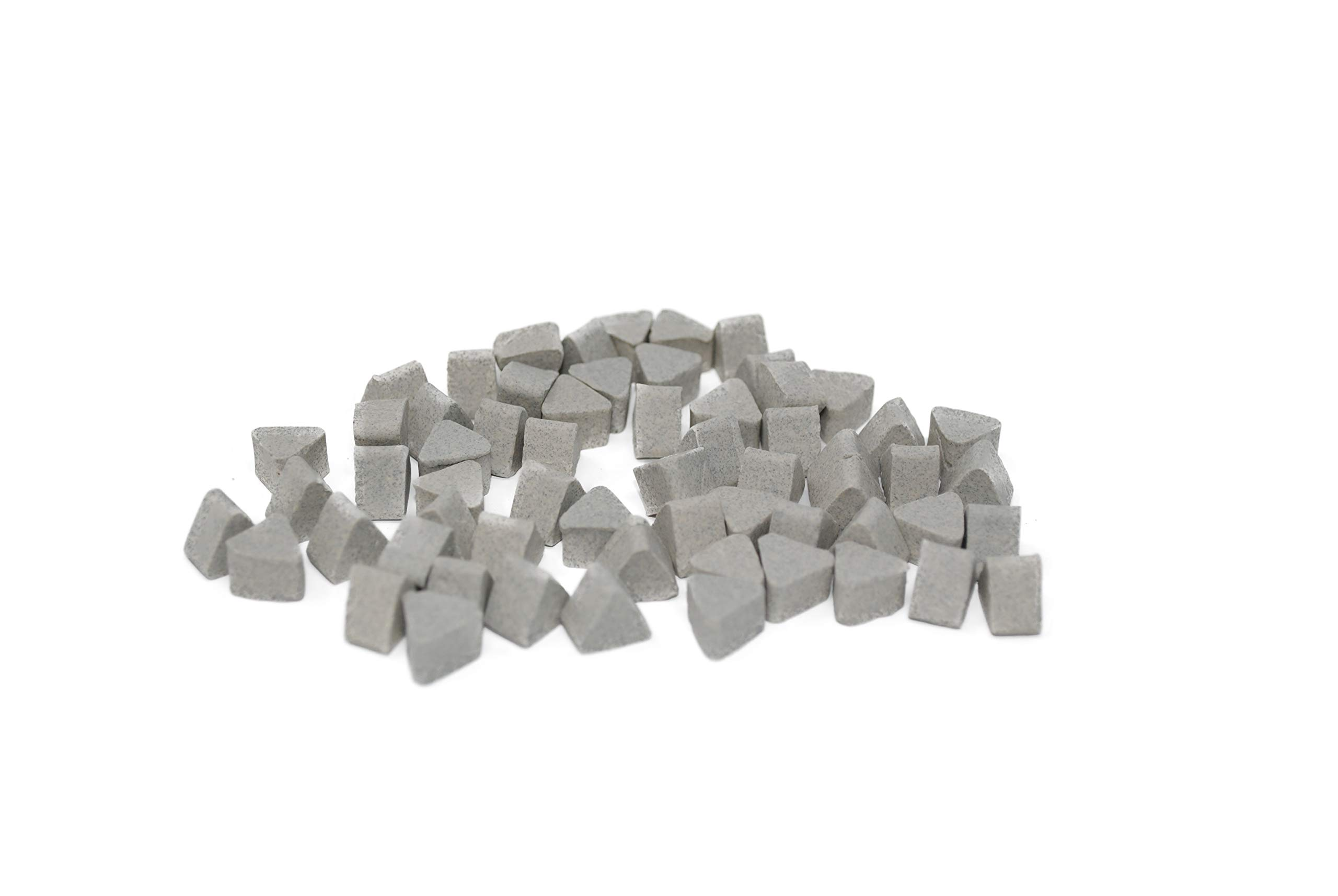 FSG 10X6, Triangle Shape, Ceramic Tumbling Rocks, 55 lb Bag, Low Cut