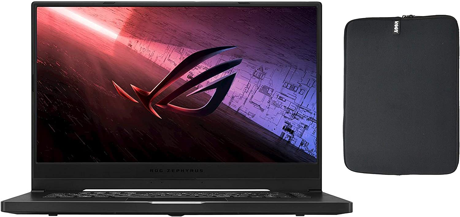 "ASUS ROG Zephyrus G15 15.6"" FHD 144Hz Gaming Laptop with WOOV Sleeve, 8 Cores Ryzen 7 4800HS, IPS, WiFi-6, USB-C, NVIDIA GeForce GTX 1660Ti Max-Q, Windows 10 (16GB RAM 