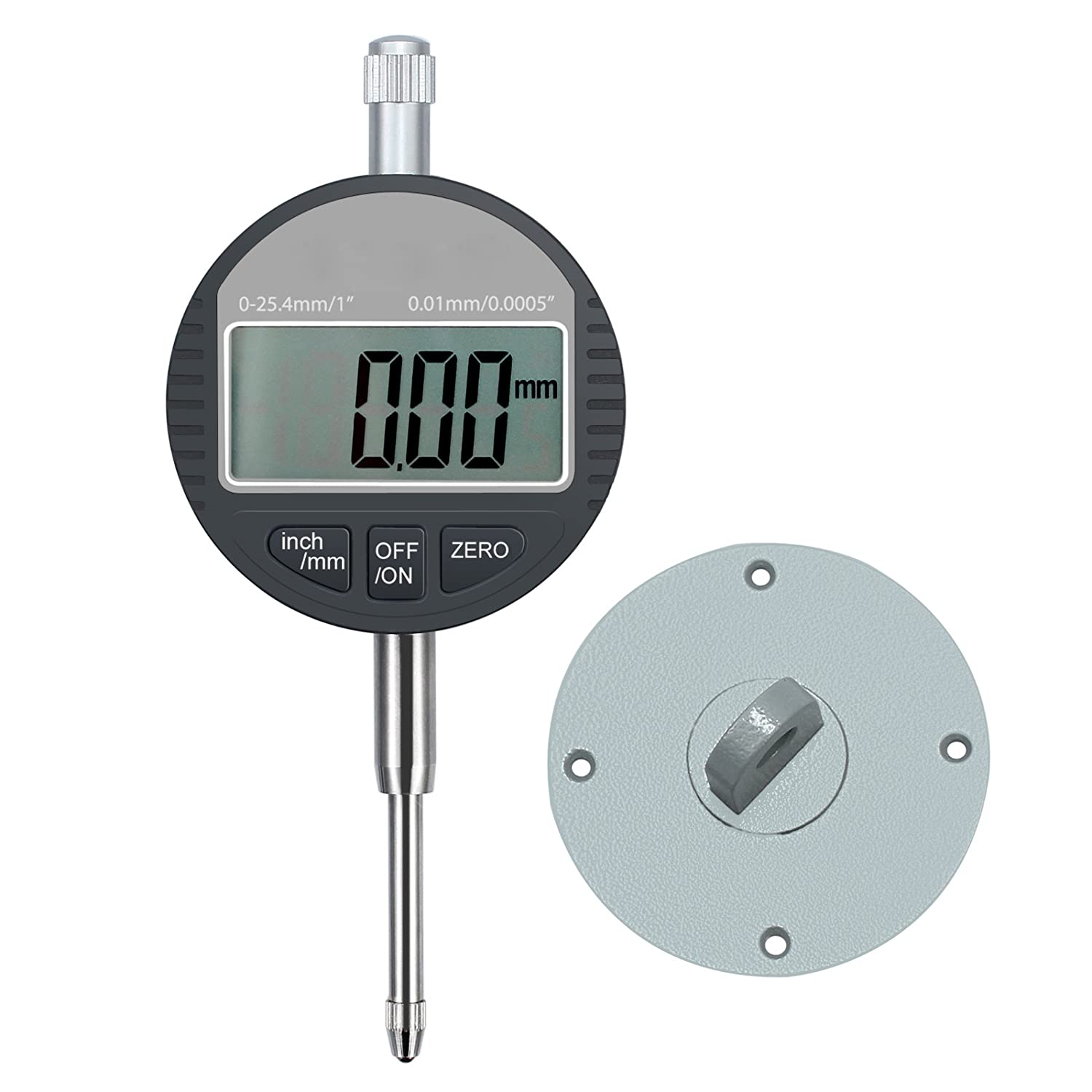 AUTOUTLET Digital Dial Indicator Sonde Digital Cadran Indicateur 0,01 mm//0 cm Gamme DTI Jauge Cadran Test Indicateur 25,4 mm//2,5 cm haute pr/écision de mesure industrielle des voyants