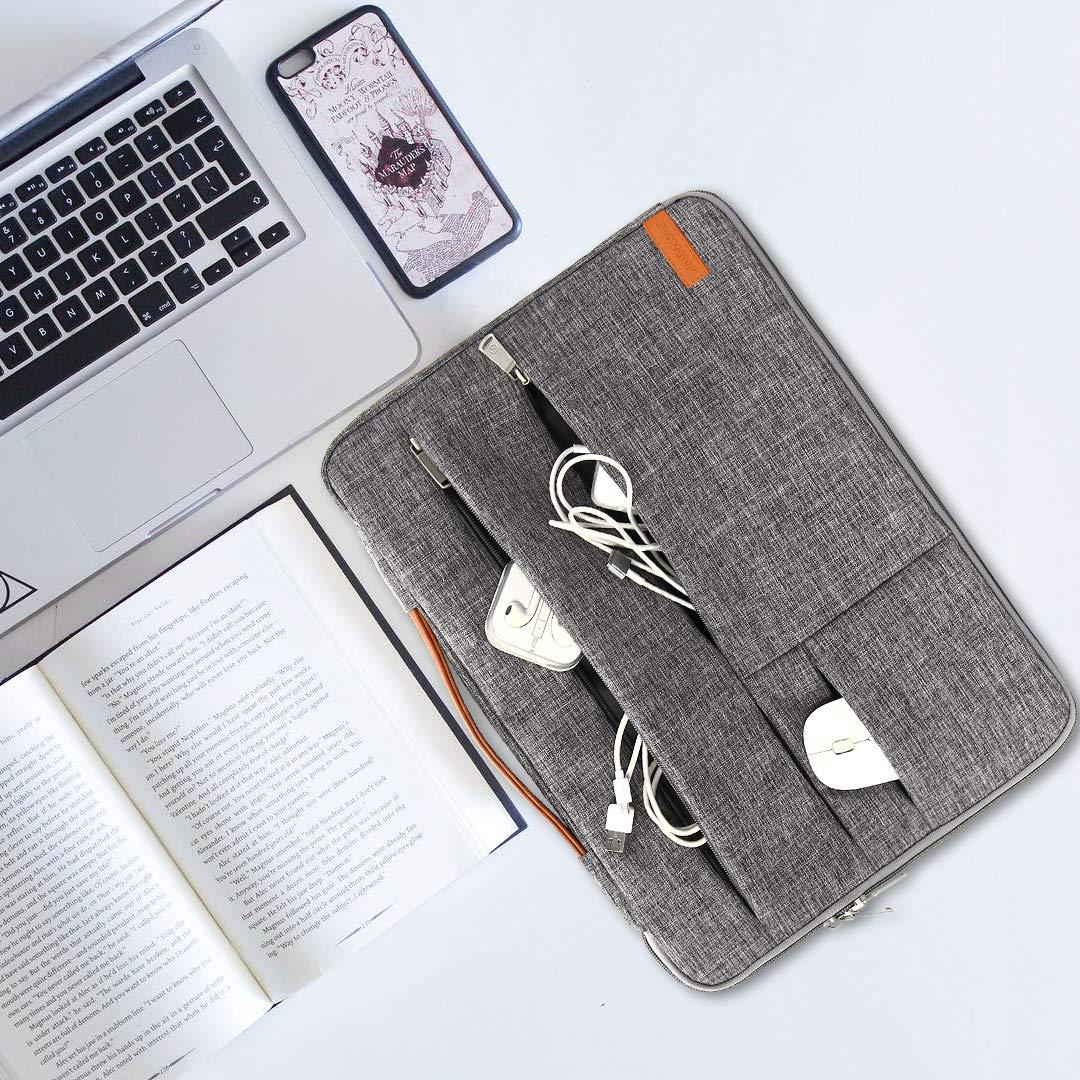 KINGSLONG Sacoche dOrdinateur Portable de 17.3 Pouces Sac /à Bandouli/ère Multifonctionnel Sac /à Main Porte Document pour Ordinateur Portable//Hommes//Femmes//Affaires