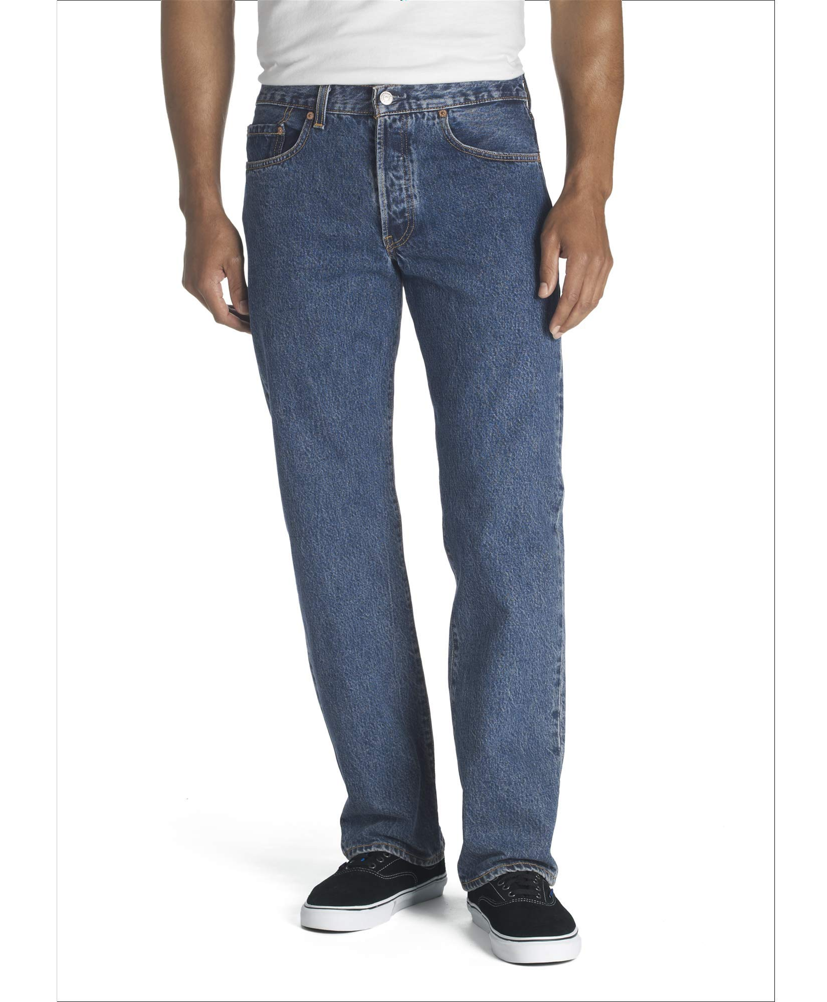 Levi's Men's 501 Original Fit Jean, Dark Stonewash, 31x32 by Levi's
