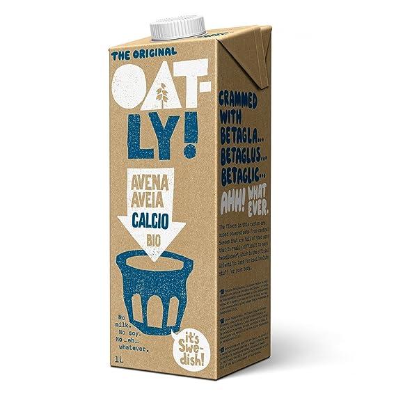 Oatly - Bebida de Avena Calcio Biológica - Pack de 6 (6 x 1 Litro