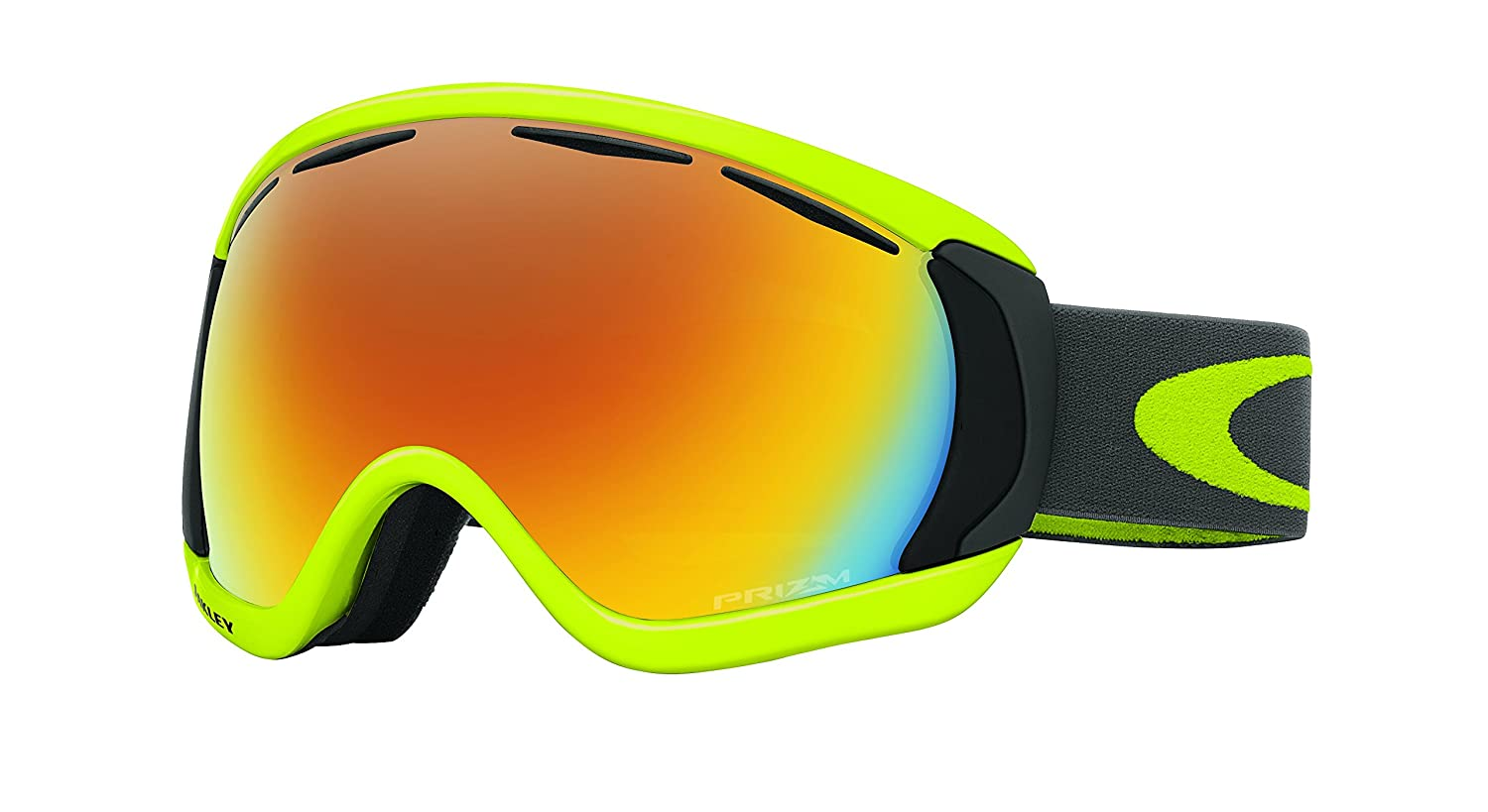 c132bacb589 Amazon.com   Oakley Canopy Adult Goggles - Citrus Iron Fire Iridium One  Size   Sports   Outdoors