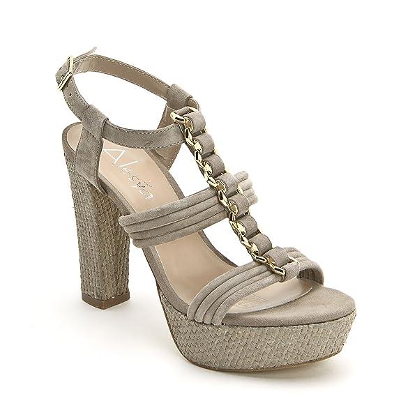 2 opinioni per ALESYA by Scarpe&Scarpe- Sandali alti con accessorio dorato e plateau, in