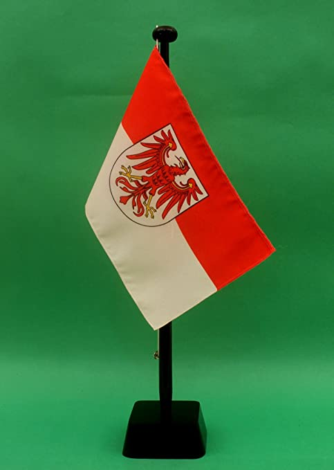 Brandemburgo 15 x 25 cm (S) Bandera de mesa opcional de 42 cm ...