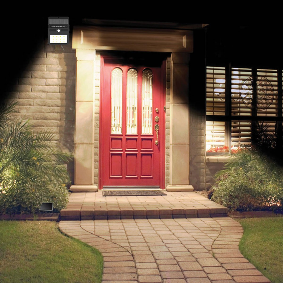 Mulcolor 12 LED Solar Lights Waterproof Solar Powered Motion Sensor Light Wireless Led Security Lights Outdoor Wall Light … by Mulcolor (Image #5)