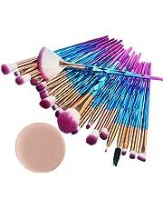 99L'amour Pinceau de maquillage diamant,Professional Maquillage Set de brosse Maquillage Kit de Toilette Set de Brosse(20 pièces+1 beau cadeau) (A)