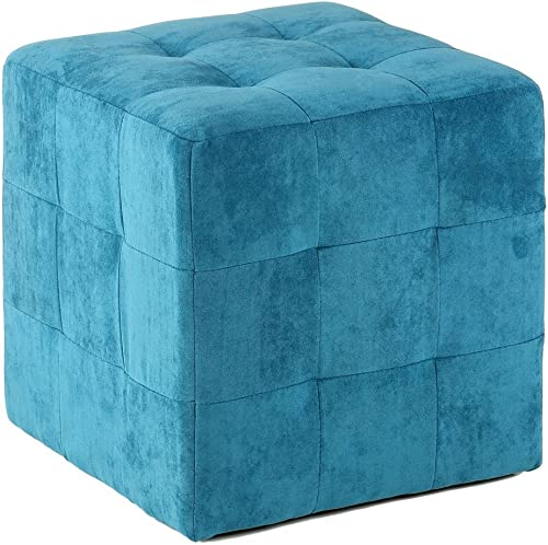 Cortesi Home Braque Tufted Cube Ottoman - the best ottoman chair for the money