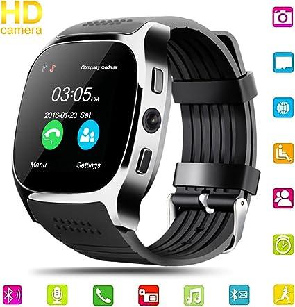 Reloj inteligente, Hizek Smartwatch Phone con cámara SIM Touch ...