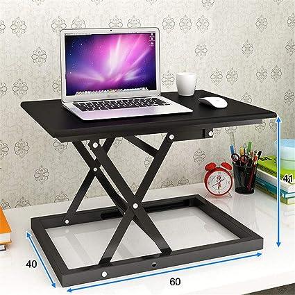 PEIQI HOME Estación de Trabajo para Ordenador Estación de Trabajo ergonómica de Mesa para Ordenador portátil