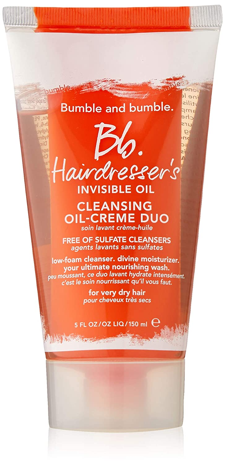 Bumble and Bumble Hairdresser's Invisible Cleansing Oil-creme Duo for  Unisex Cleanser, 5 Ounce