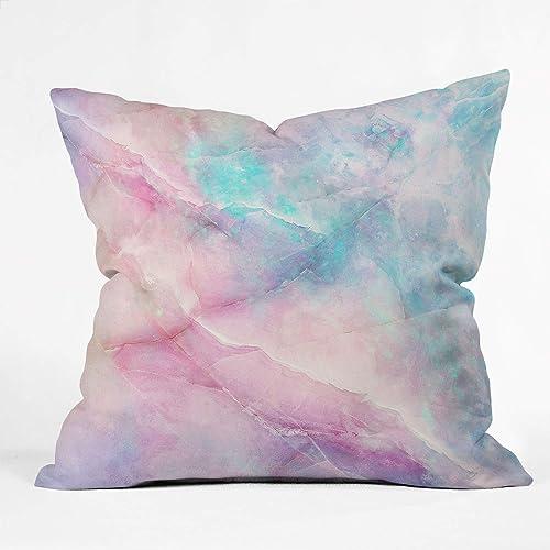 Society6 68753-othrp16 Emanuela Carratoni Iridescent Marble Indoor Throw Pillow, 16 x16 , Multi