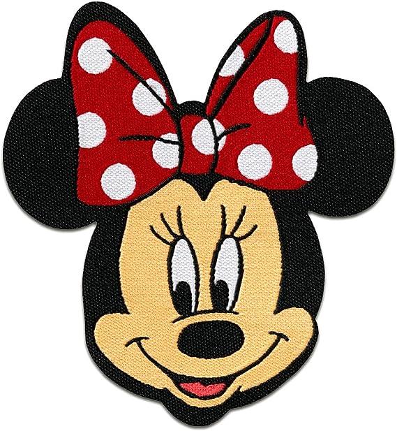 Imagen deParches - Minnie Mouse Disney cómico niños - rojo - 6,5x7,5cm - termoadhesivos bordados aplique para ropa