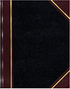 "NATIONAL Brand Texhide Series Record Book, 10.375 x 8.375"" Black, 150 Pages (56211)"