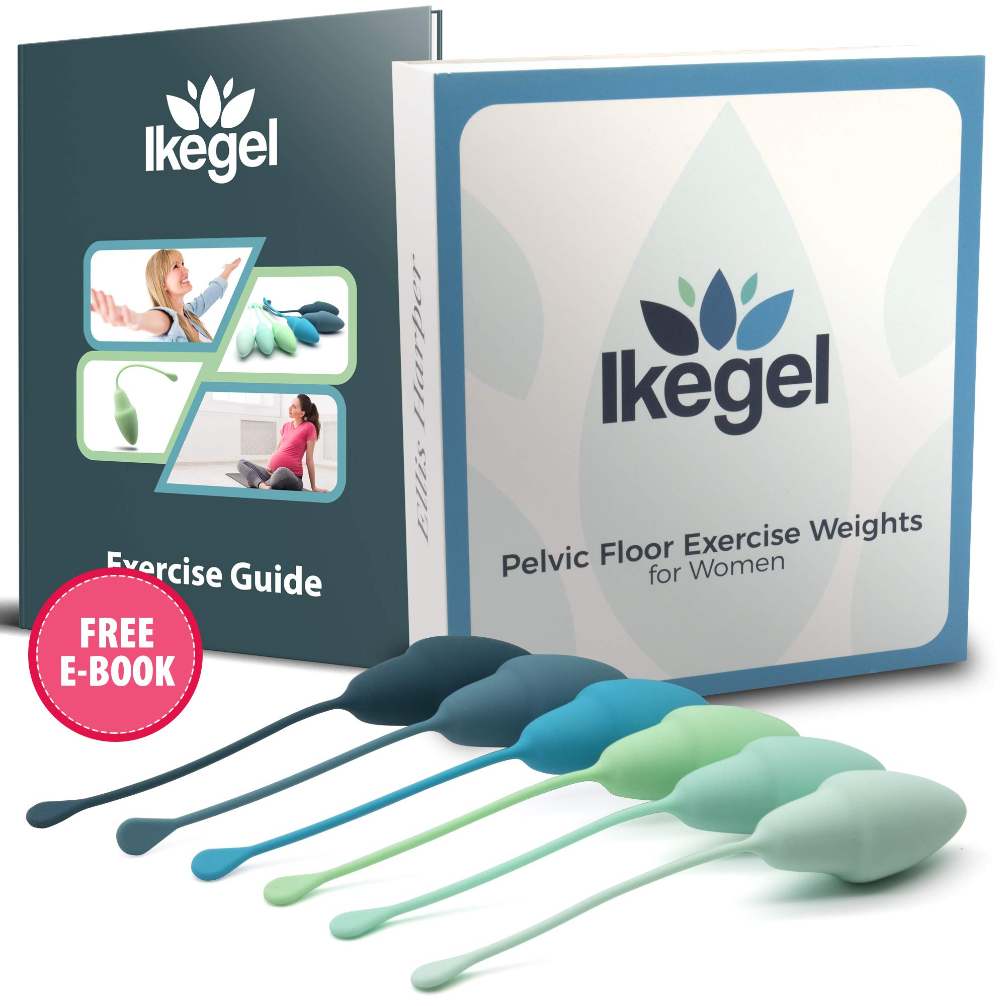 Ikegel Pelvic Floor Toner for Women with Exercise Guide | Known as Ben Wa Balls | These Kegel Balls for Women Help Bladder Control and Pelvic Floor Tightening | Easy to Use by Ellis Harper