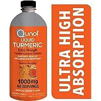Qunol Liquid Turmeric Curcumin with Bioperine 1000 Milligram, Anti-Inflammatory, Dietary Supplement, Extra Strength, 40 Day Supply, 40 Servings … (40 Day Supply)
