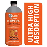Qunol Liquid Turmeric Curcumin with Black Pepper 1000 Milligram, Anti-Inflammatory...