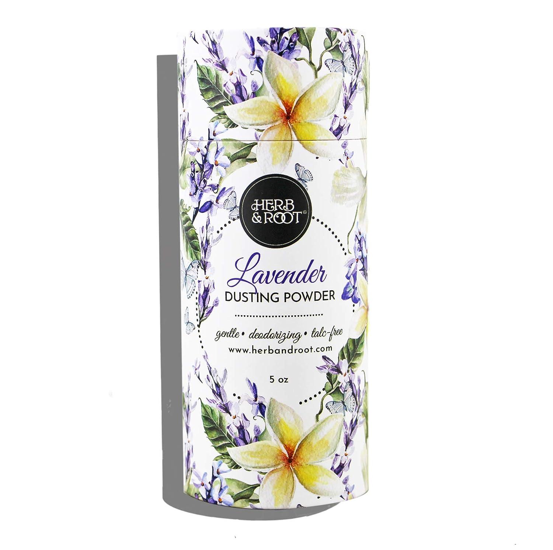 Lavender Perfumed Body Powder or Women or Men, Talc Free, Anti-chafing, Foot Powder, Bath Powder | Herb & Root, 5 oz