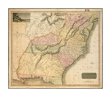 Amazon.com: 1817 Map Southern United States Southern provinces of ...