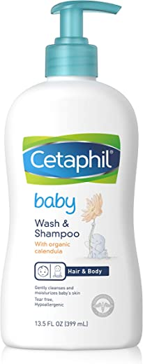 Cetaphil Baby Wash & Shampoo with Organic Calendula, 13.5 Fl. Oz