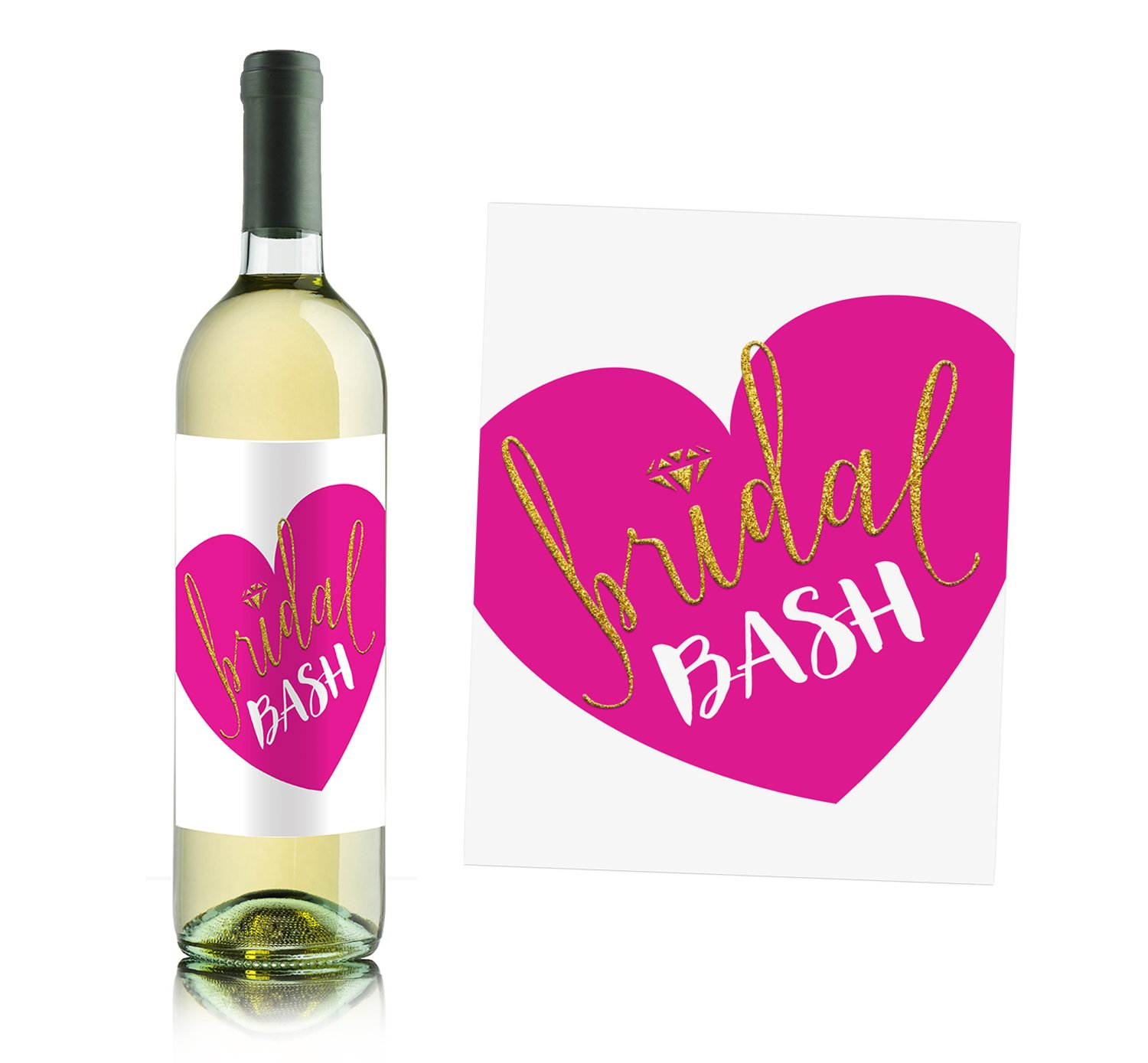Girls Night out - Bachelorette Party Wine Bottle Labels (set of 4) by Sblabels (Image #3)