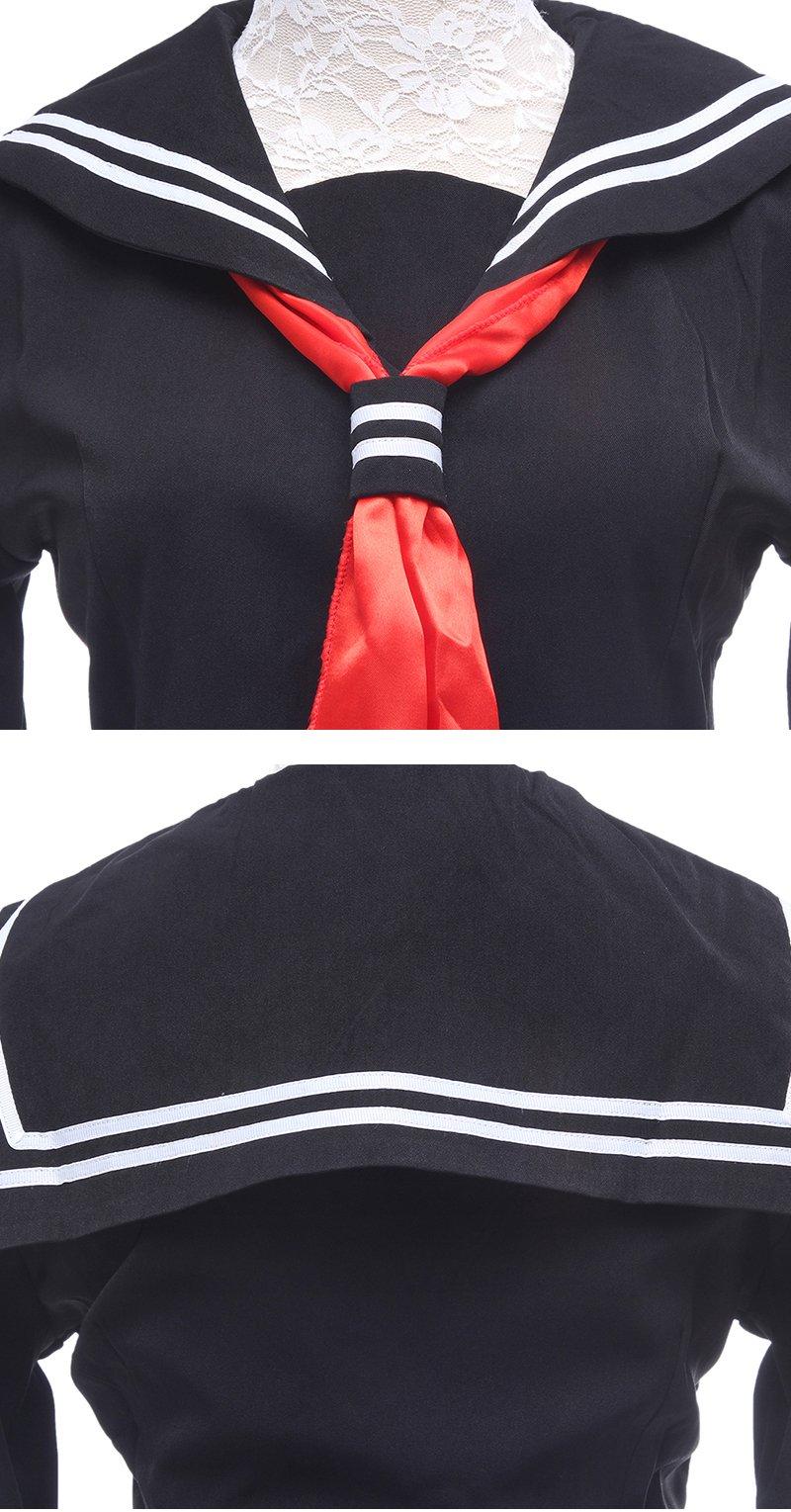 ROLECOS Womens Sailor School Uniform Dress Black L GC13A by ROLECOS (Image #7)