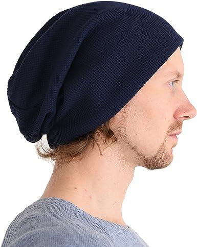 CHARM Casualbox | Gorros Beanie Sombrero Desgarbado Holgado Flojo Algodón Natural Suave Elástico Japonés Coreano Moda Azul Marino: Amazon.es: Ropa y accesorios